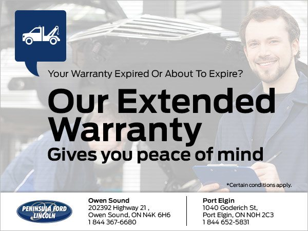 Ford Extended Warranty >> Get An Extended Warranty Peninsula Ford Lincoln Owen Sound Ford