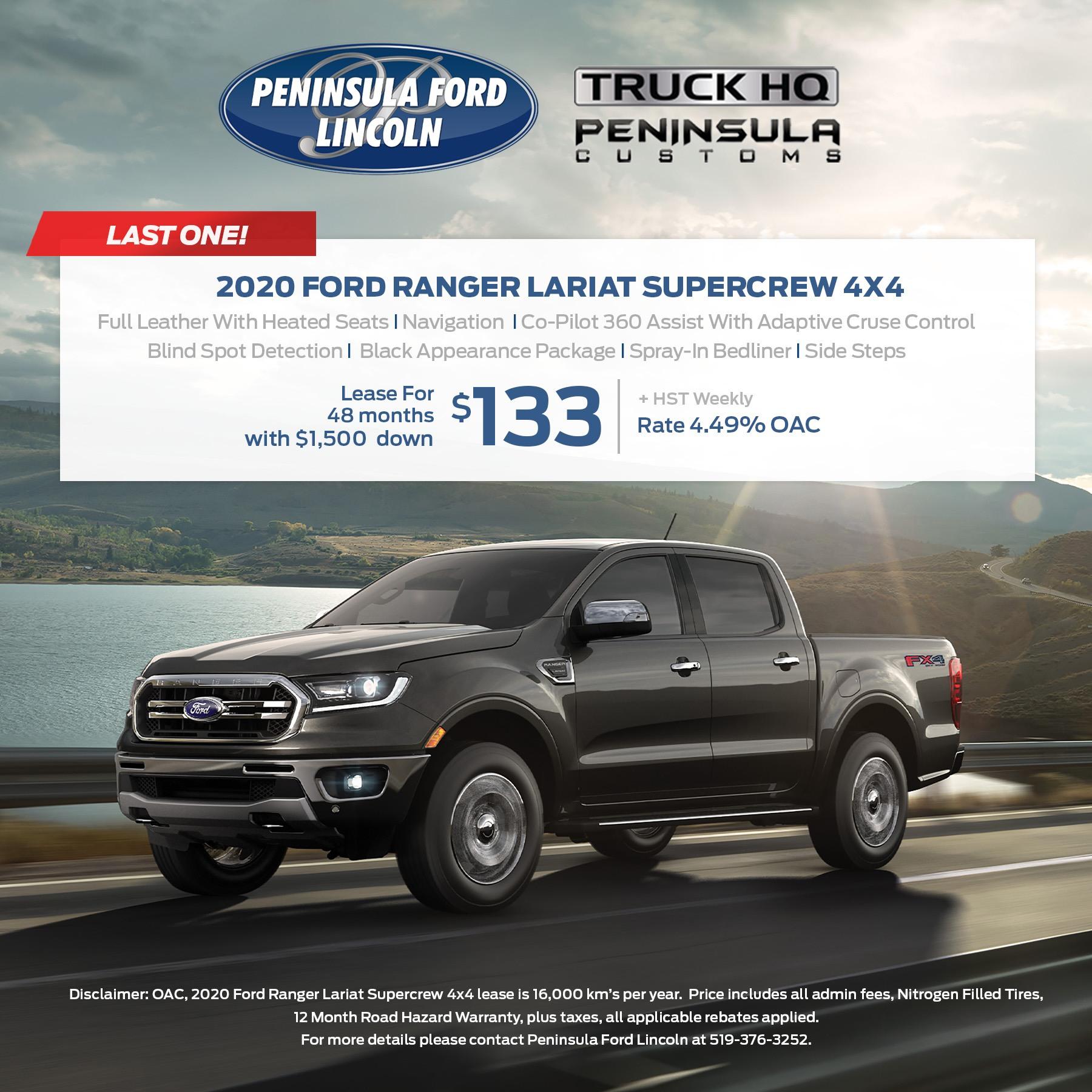 2020 Ford Ranger lariat Supercrew 4X4