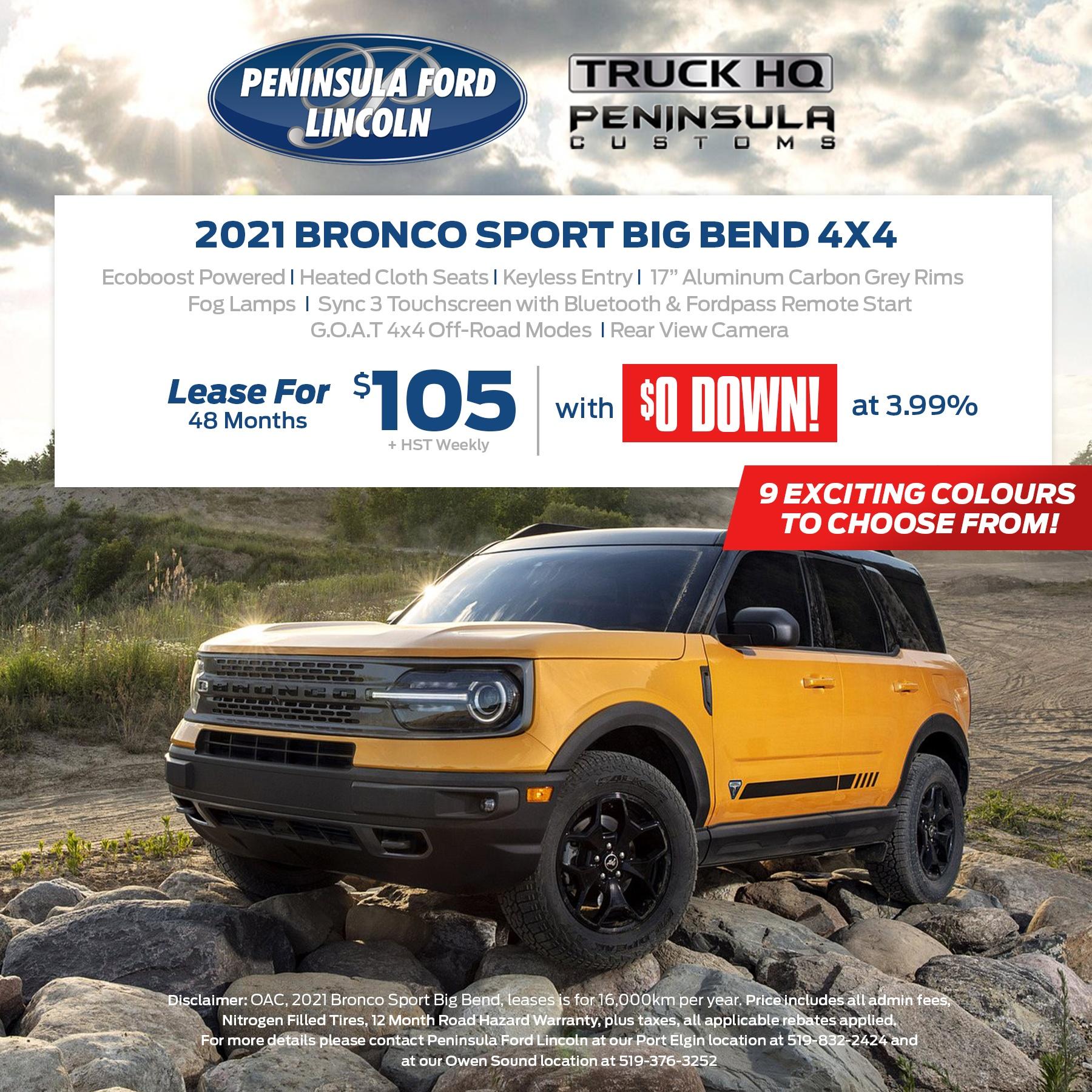2021 Bronco Sport Big Bend 4×4