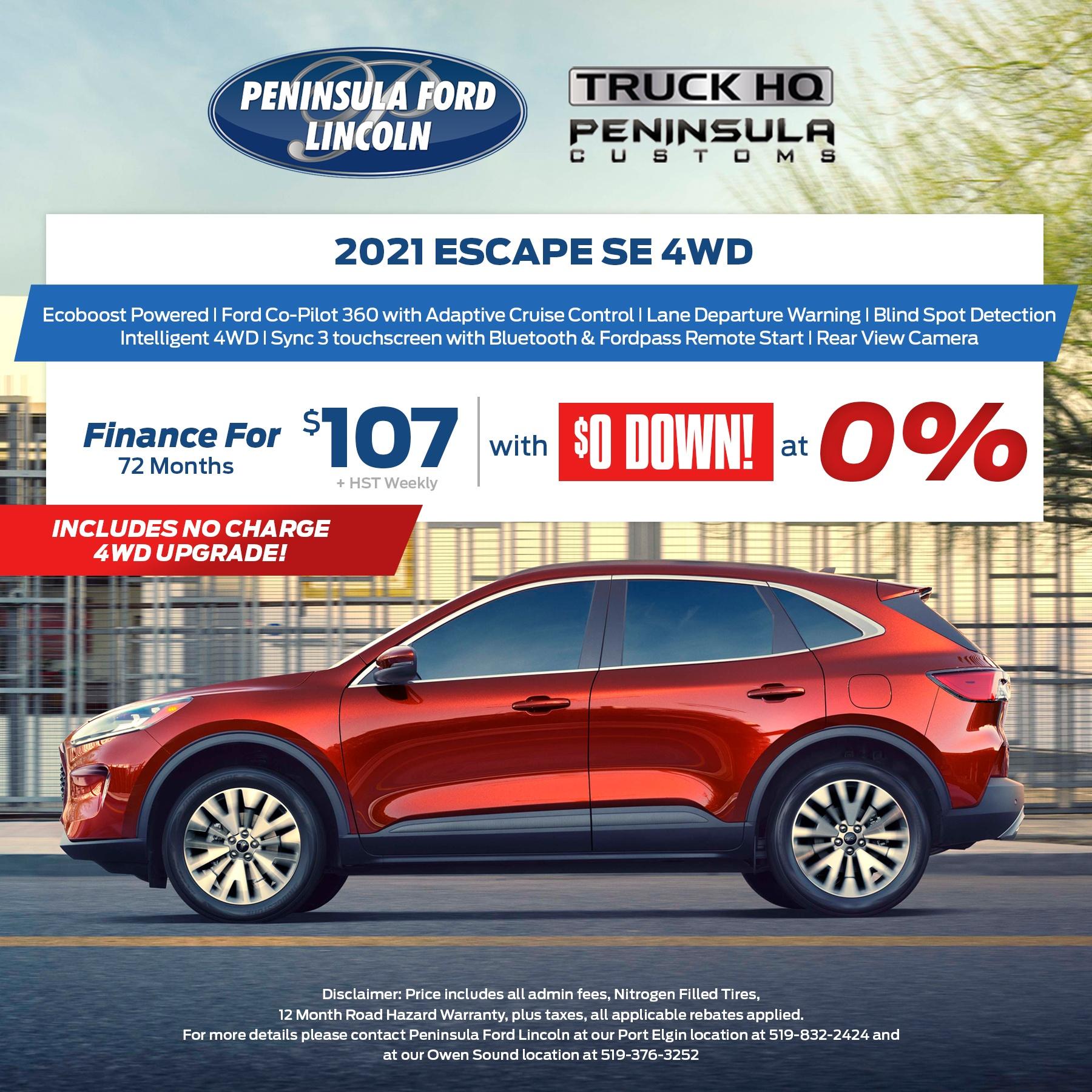 2021 Escape SE 4WD