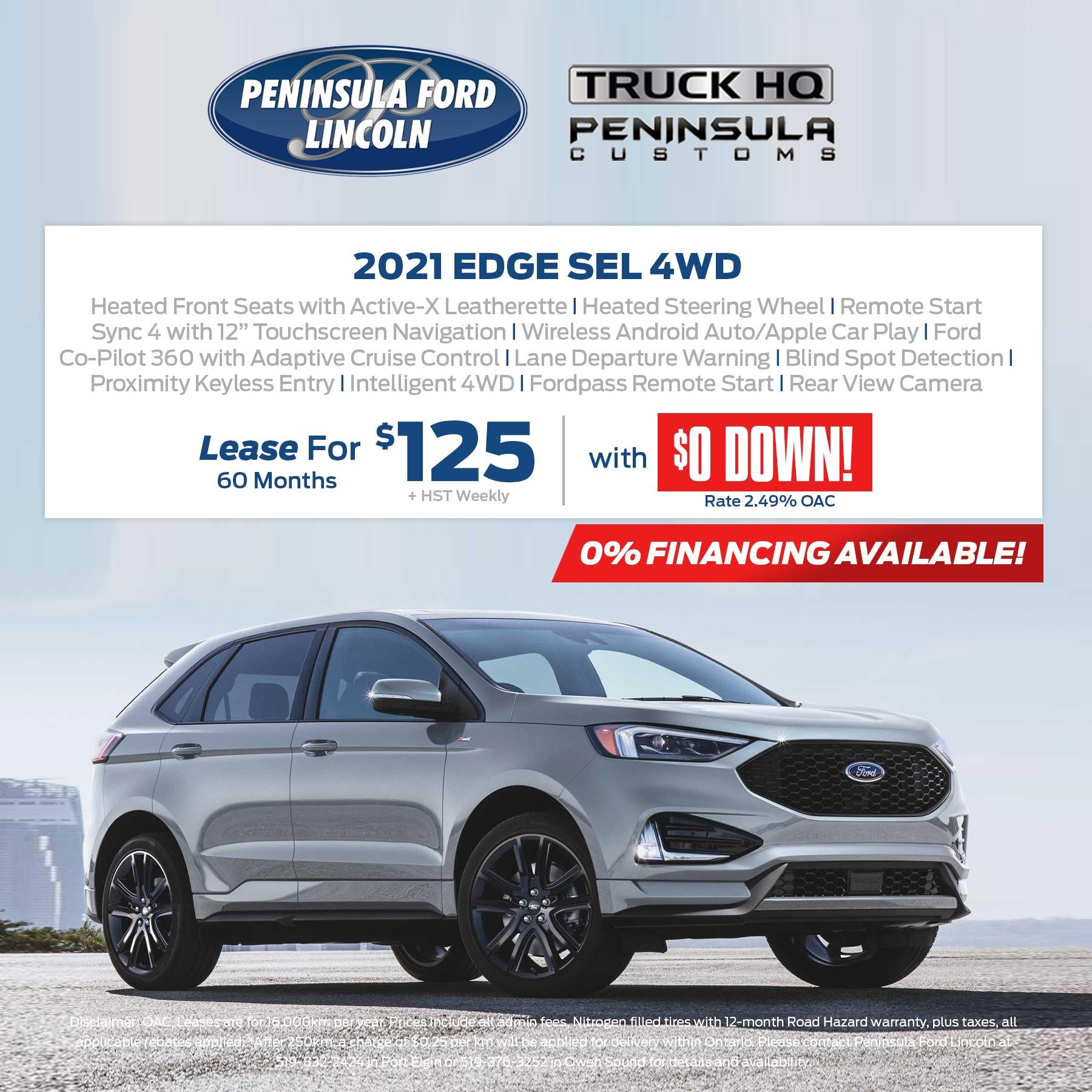 2021 EDGE SEL 4WD
