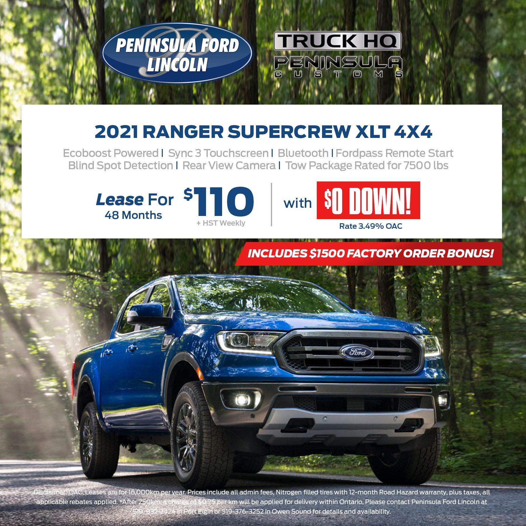 2021 Ranger Super Crew XLT 4X4